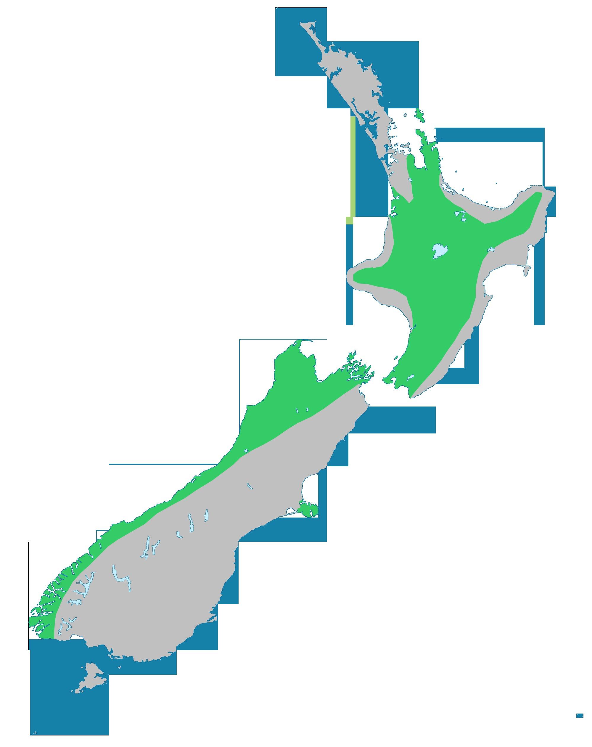 Map of <i>Cordyline indivisa</i> (G. Forst.) Endl.