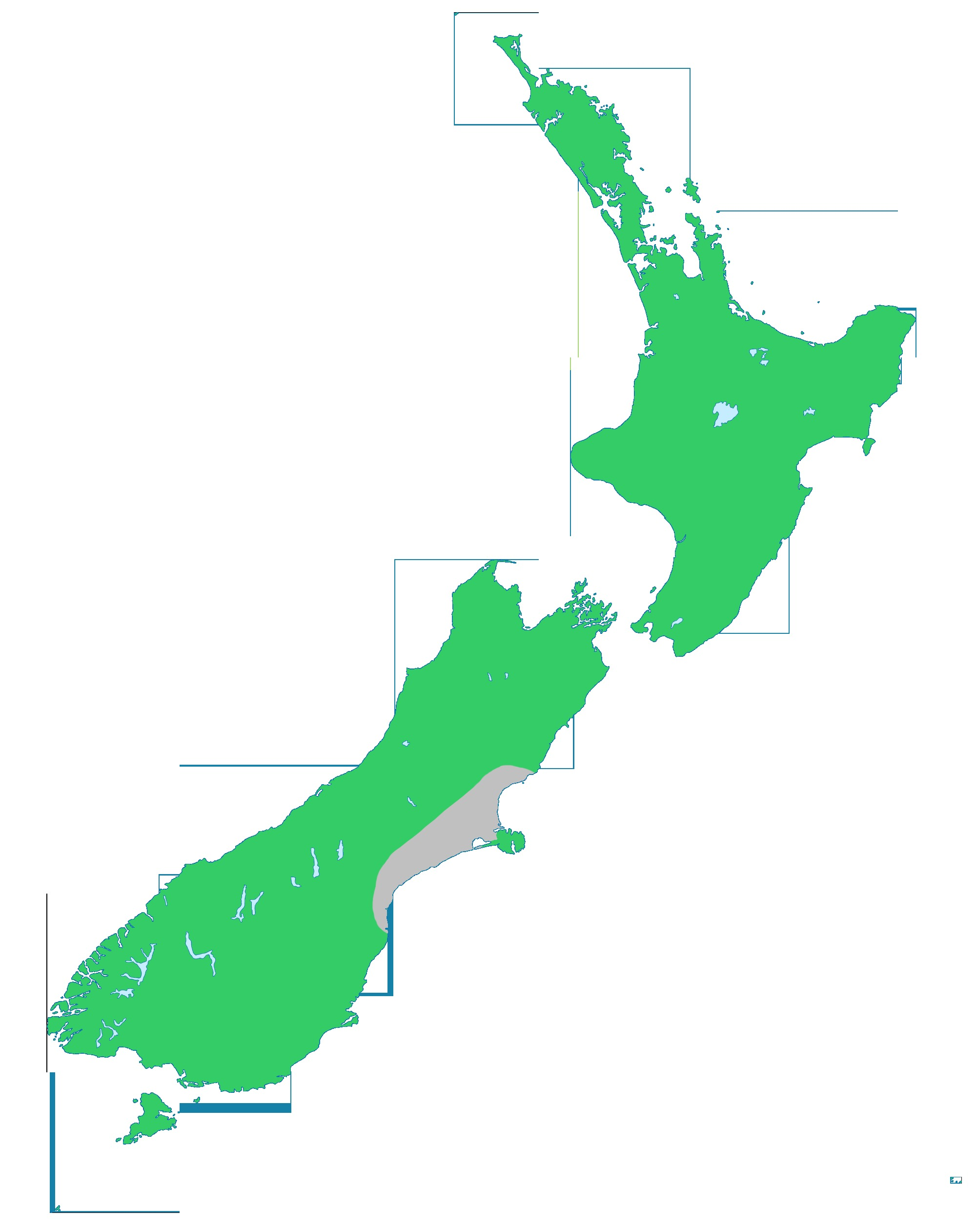 Map of New Zealand fuchsia