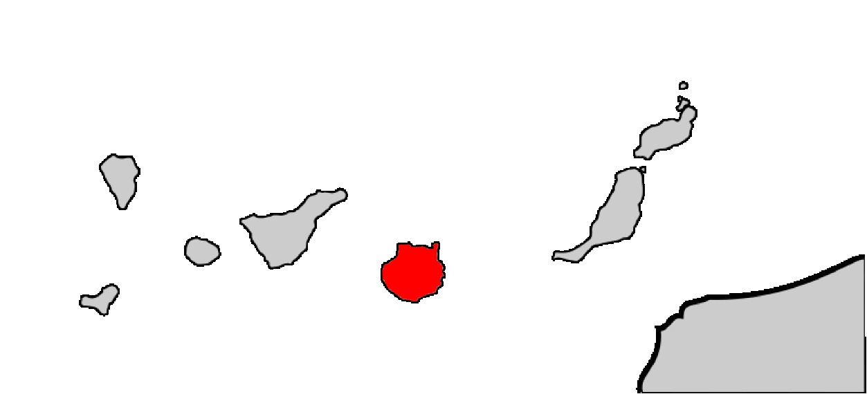 Map of Gran Canaria Skink