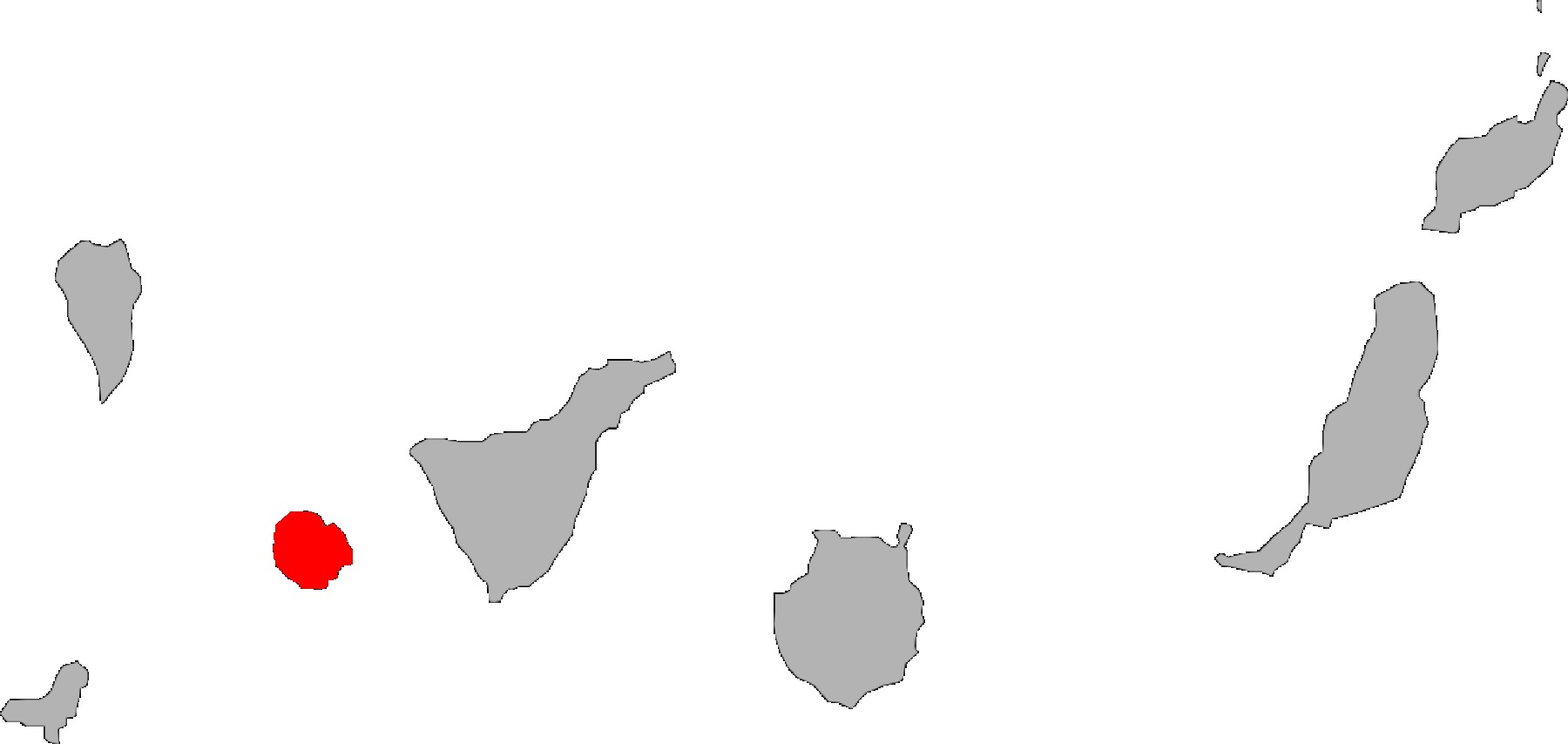 Map of Gomero Wall Gecko