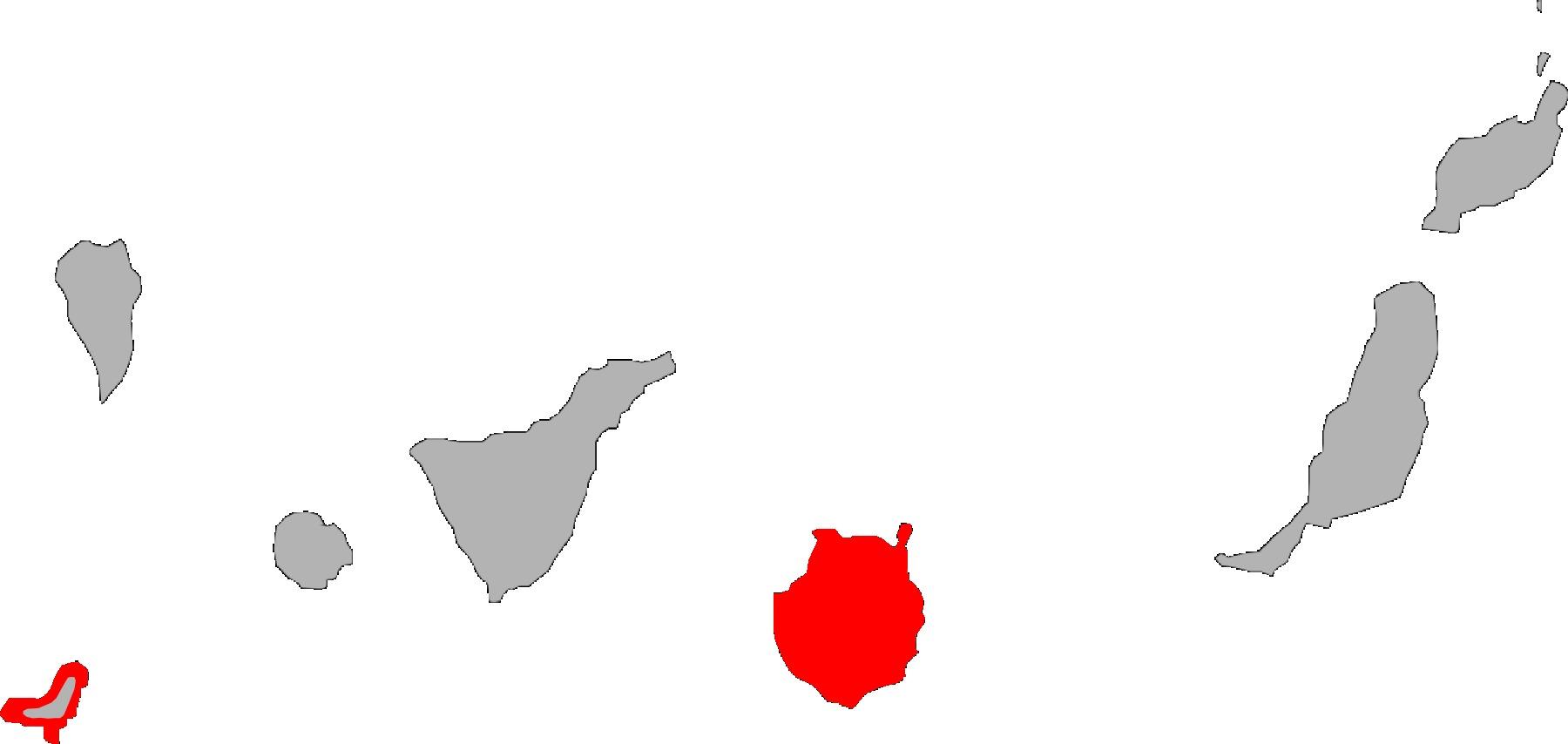 Map of Boettger's Wall Gecko