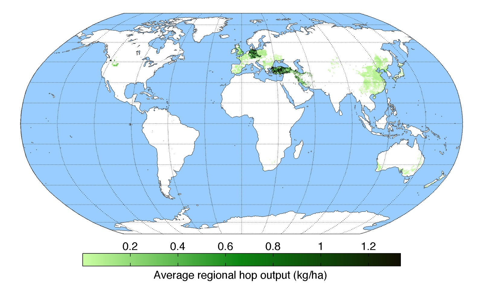 Map of common hop