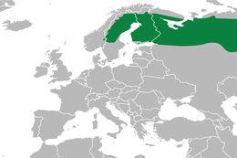 Map of Eurasian Buntings
