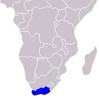 Map of Cape Mountain Zebra