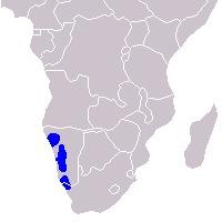 Map of <i>Equus zebra hartmannae</i>