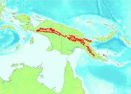 Map of Boelen's python