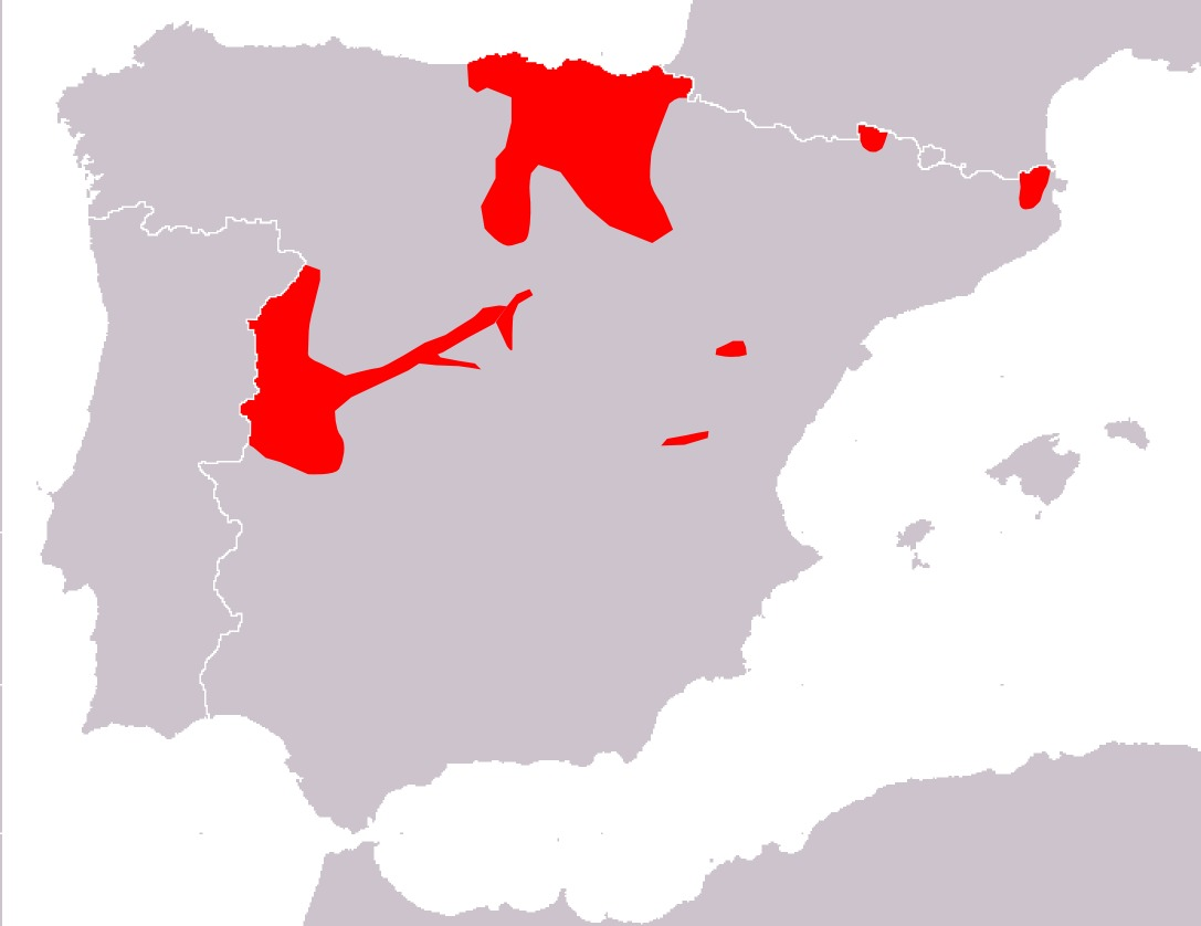 Map of Lesser Spotted Woodpecker