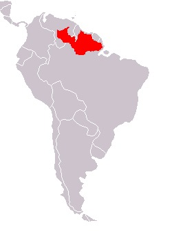 Map of Bearded Saki