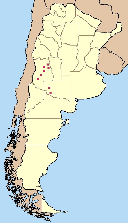 Map of Plains Viscacha Rat