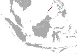 Map of Philippine Pangolin
