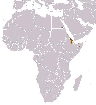 Map of African Wild Ass