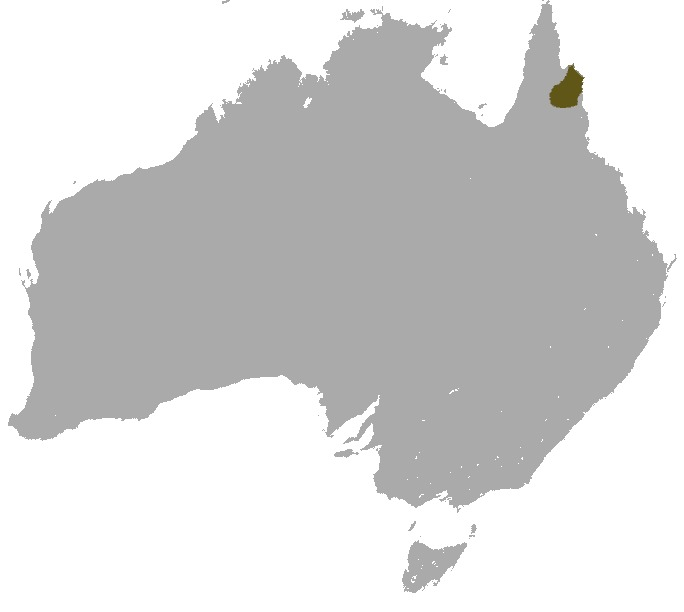 Map of Godman's Rock Wallaby