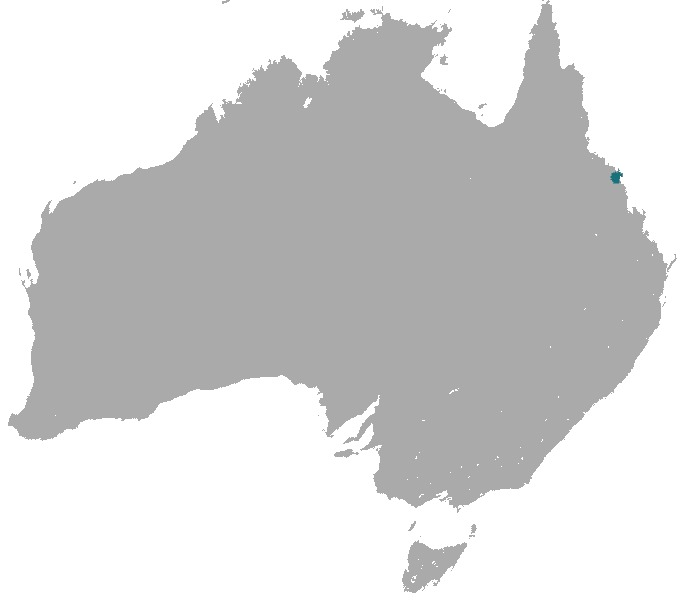 Map of Proserpine Rock Wallaby