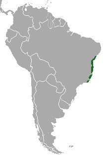 Map of Maned sloth