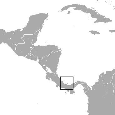 Map of Pygmy Three-toed Sloth