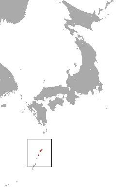 Map of Amami Shrew
