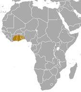 Map of Ursine Colobus