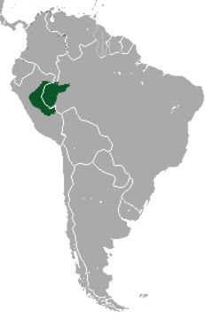 Map of Colombian Red Howler Monkey