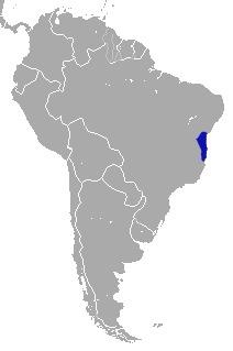 Map of Coastal Black-handed Titi