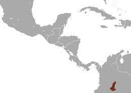 Map of Ornate Titi Monkey