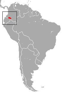 Map of Colombian Black-handed Titi Monkey