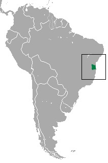 Map of Weid's Black-tufted-ear Marmoset