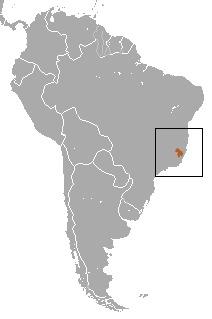 Map of Buffy-headed Marmoset