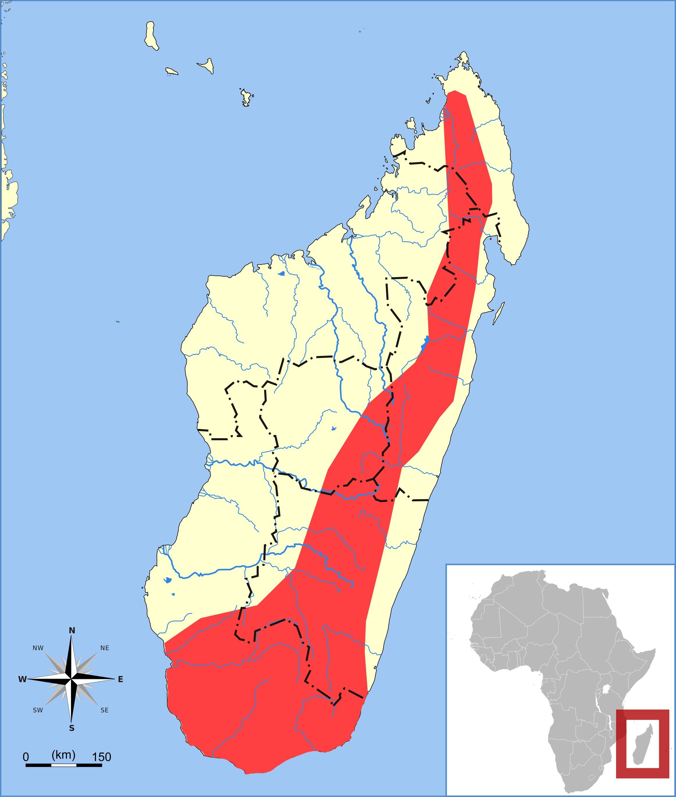 Map of Mormopterus