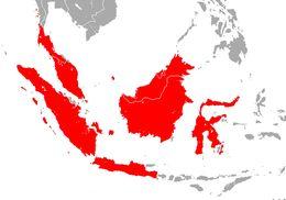 Map of Lesser Sheath-tailed Bat