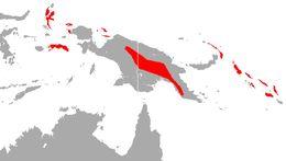 Map of Raffray's Sheath-tailed Bat