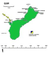 Map of Brown tree snake
