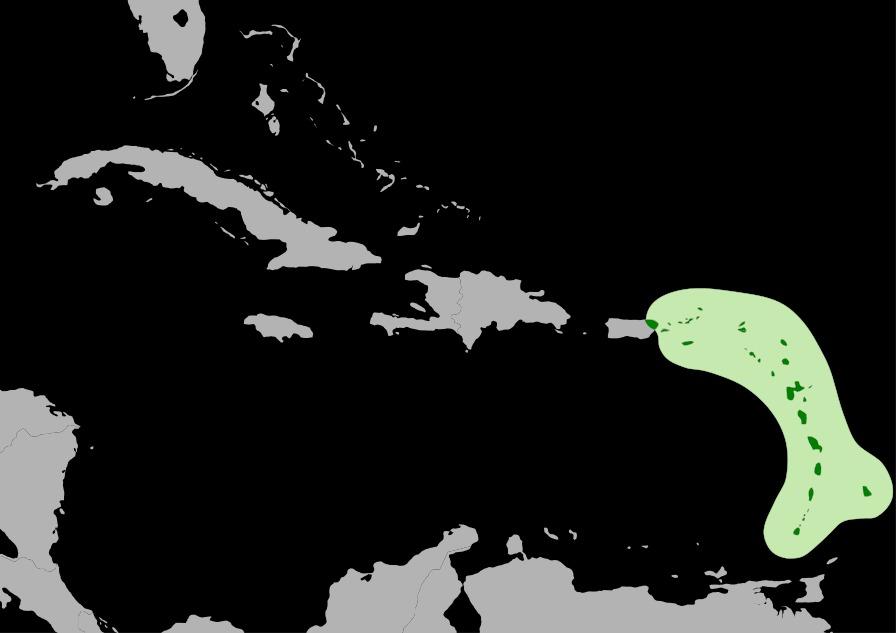 Map of Caribs