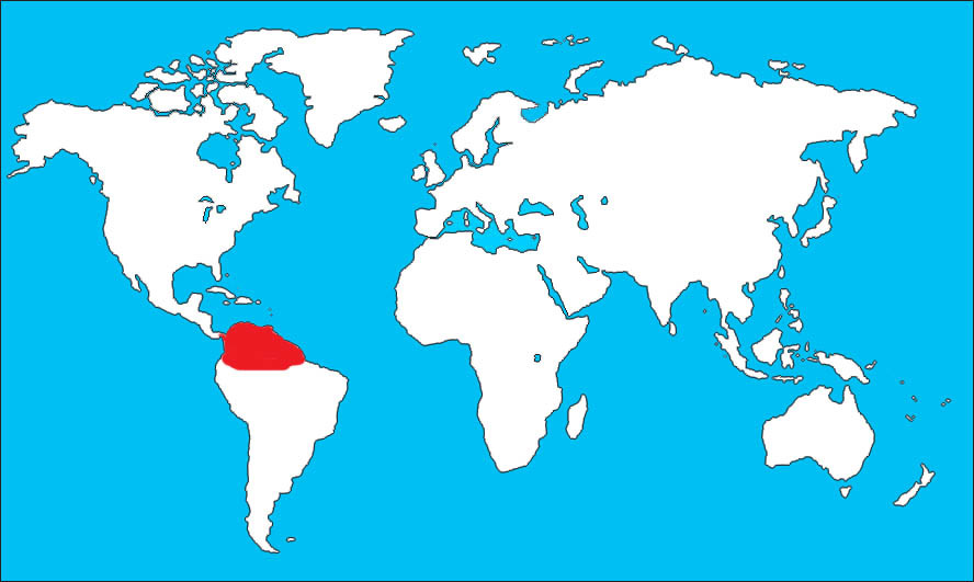 Map of Chestnut-fronted Macaw