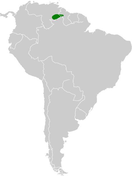 Map of Tepui Goldenthroat