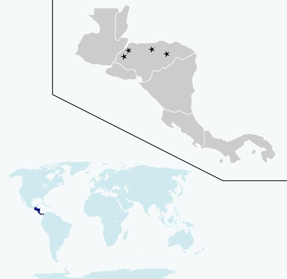 Map of Honduran Emerald