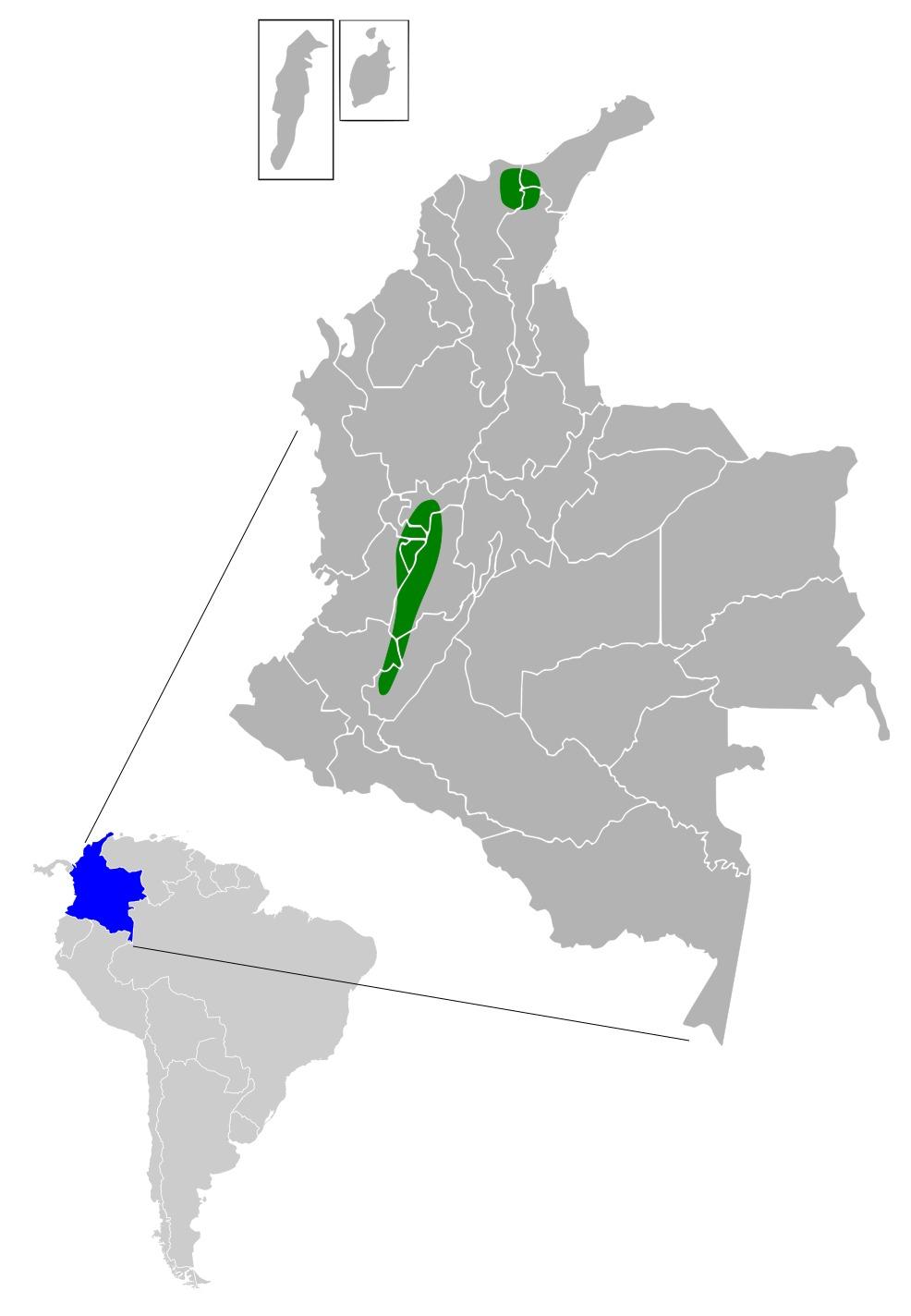 Map of Anthocephala Cabanis & Heine 1860