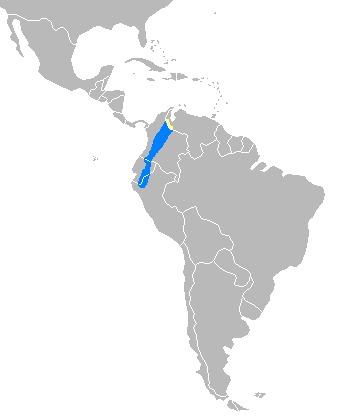 Map of Mountain Tapir