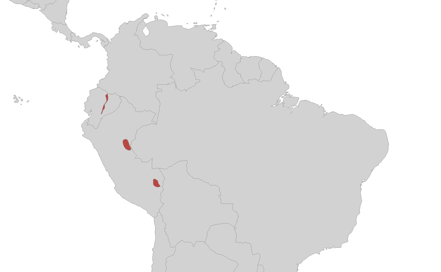 Map of Peters' Caecilian