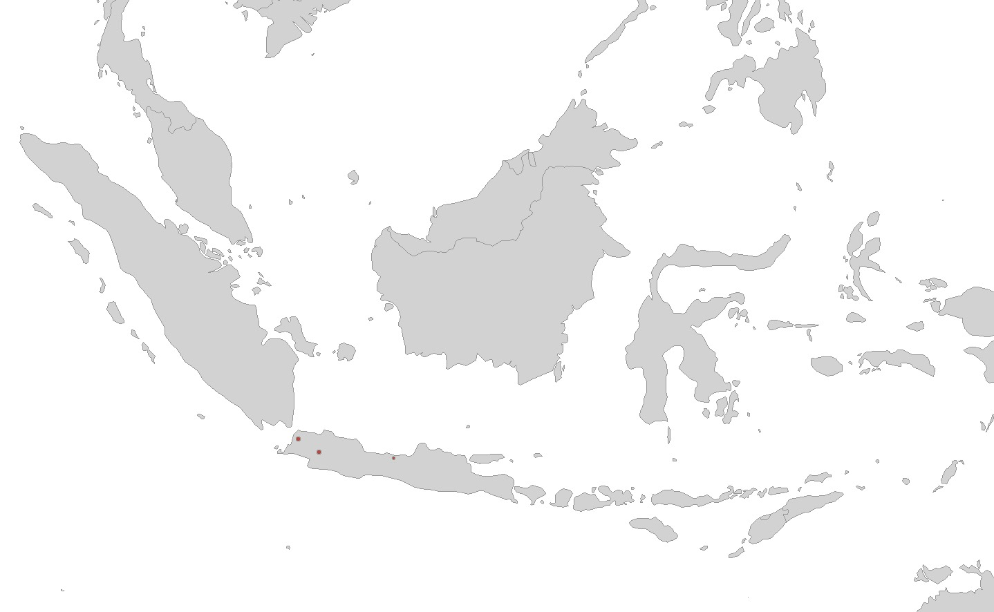 Map of Javan Caecilian