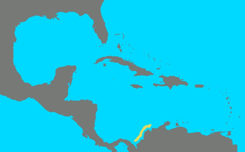 Map of Colombian Electric Ray