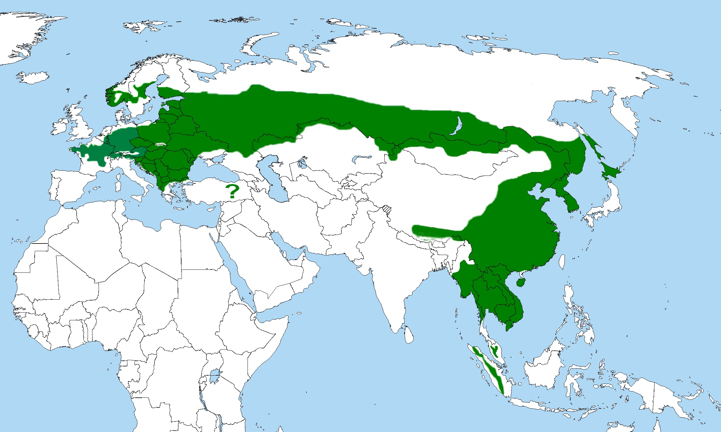 Map of Grey-faced woodpecker