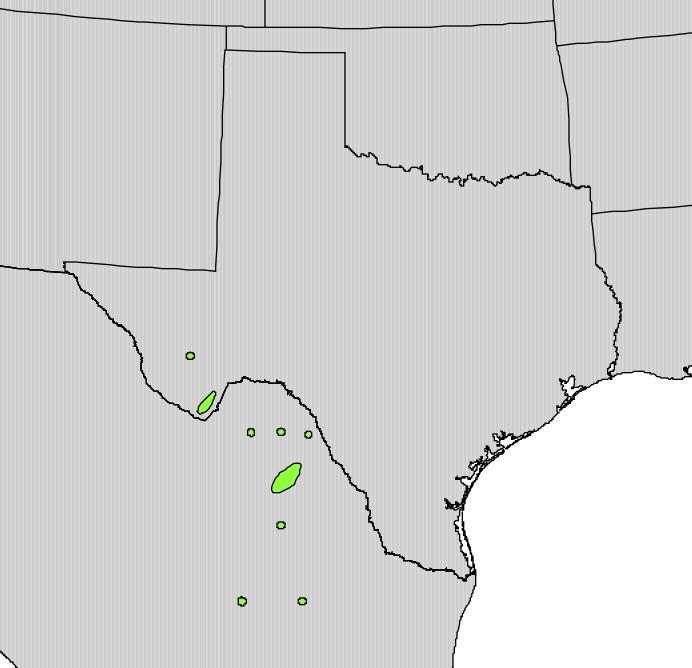 Map of beaked yucca