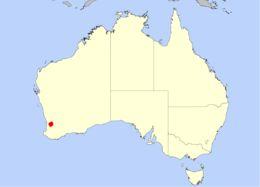 Map of <i>Drosera barbigera</i> Planch.