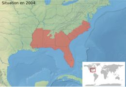 Map of Southern Cricket Frog