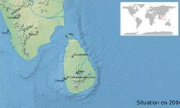 Map of <i>Pseudophilautus auratus</i> (Manamendra-Arachchi & Pethiyagoda 2005)