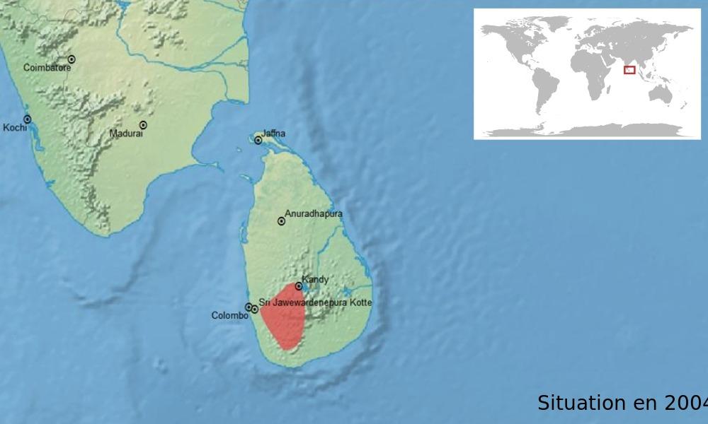 Map of <i>Pseudophilautus sordidus</i> (Manamendra-Arachchi & Pethiyagoda 2005)