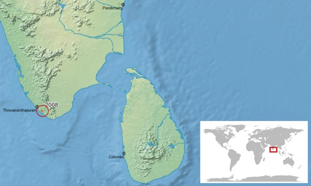 Map of Bob Inger's bush frog