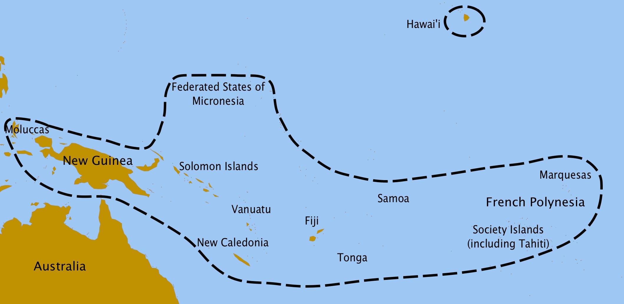 Map of fe'i banana