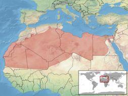 Map of Sahara Sand Viper