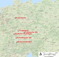 Map of <i>Phengaris rebeli</i>